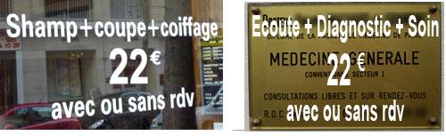 Coiffeur VS Médecin