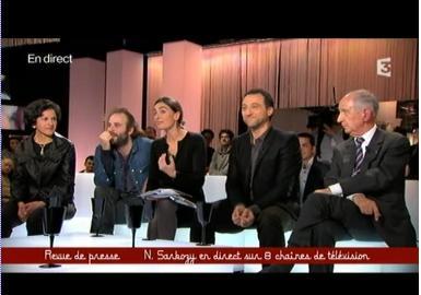 Agnès Verdier-Molinié sur le plateau de l'émission Ce soir ou jamais avec Frédéric Taddeï