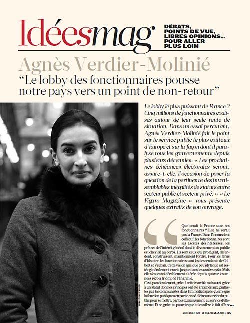 Le Figaro Magazine, aperçu de la première page