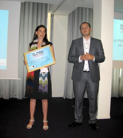 Agnès Verdier-Molinié reçoit le trophée des Think Tank dans la catégorie