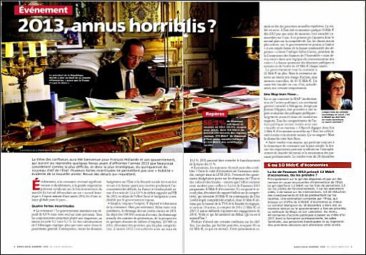 La revue Espace Social Européen cite l'étude de la Fondation iFRAP sur le budget 2013.