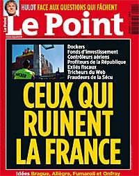 Le Point, Ceux qui ruinent la France, cite Agnès Verdier-Molinié