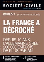 Société Civile n°108   Emplois, la France a décroché