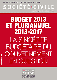 Fondation iFRAP, Budget 2013 et pluriannuel 2013-2017