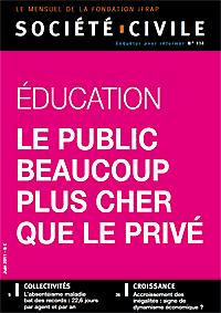 Société Civile, dossier Education : le public beaucoup plus cher que le privé