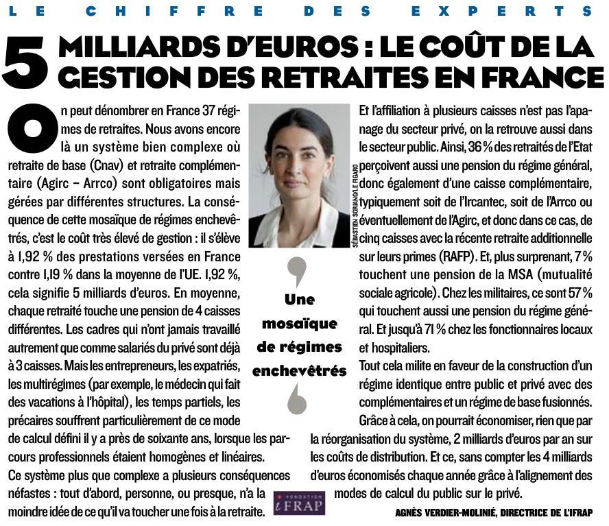 5 milliards d 39 euros le co t de gestion des retraites en france fondation ifrap. Black Bedroom Furniture Sets. Home Design Ideas