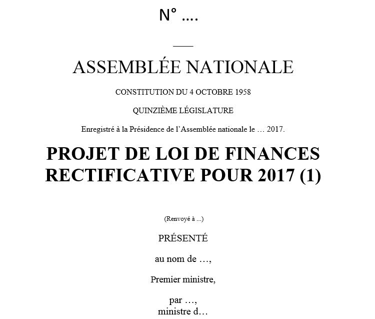 Projet De Loi De Finances Rectificative Pour 2017 Fondation Ifrap